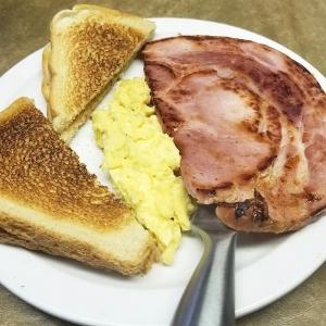 Ham & Eggs with Toast